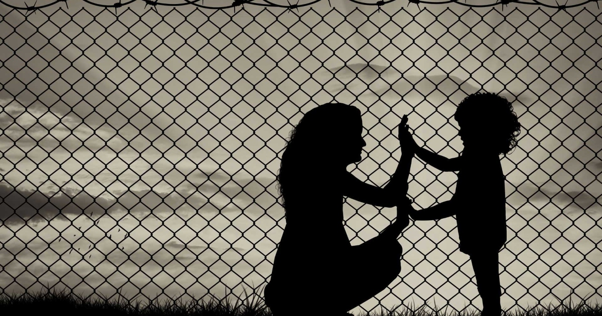 Migrant Women and child