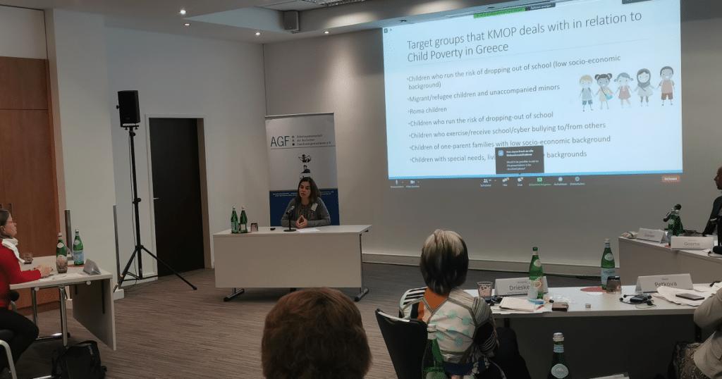 Dr. Antonia Torrens speaking at COFACE