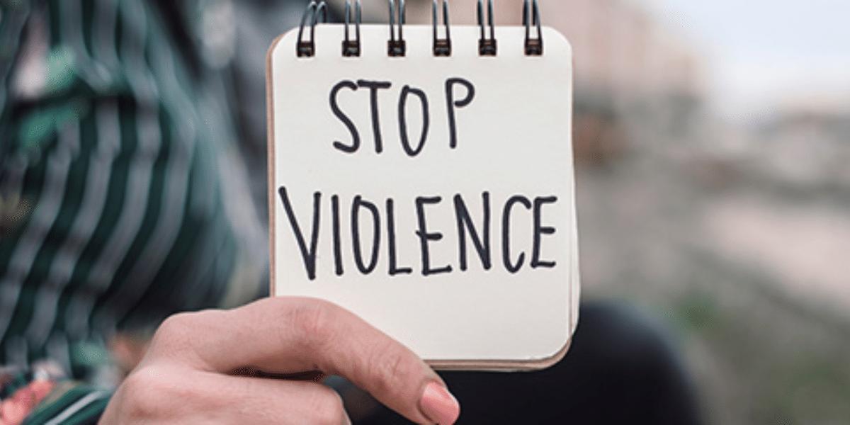 μήνυμα κατά της βίας