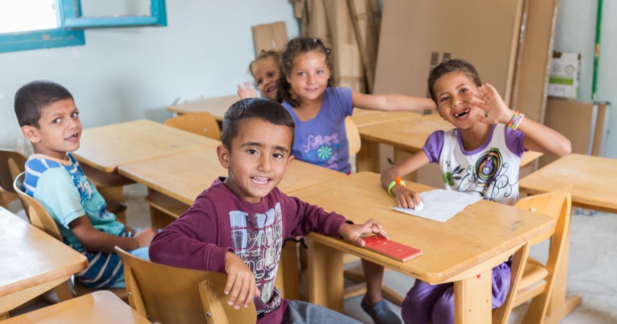 Migrant children in School